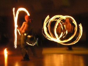 Ohňová show na plese
