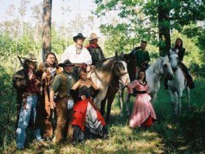 Western na koních